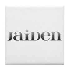 Jaiden Carved Metal Tile Coaster