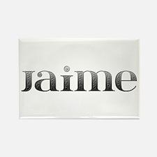 Jaime Carved Metal Rectangle Magnet