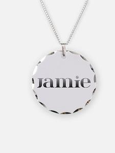 Jamie Carved Metal Necklace