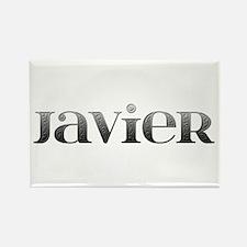 Javier Carved Metal Rectangle Magnet