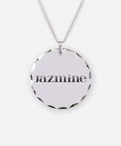 Jazmine Carved Metal Necklace