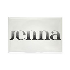 Jenna Carved Metal Rectangle Magnet