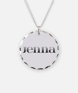 Jenna Carved Metal Necklace