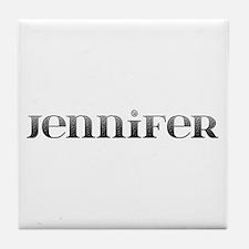 Jennifer Carved Metal Tile Coaster
