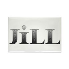 Jill Carved Metal Rectangle Magnet