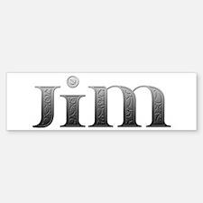 Jim Carved Metal Bumper Bumper Bumper Sticker