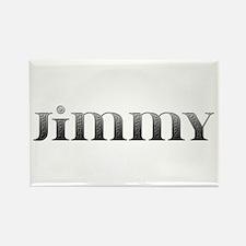 Jimmy Carved Metal Rectangle Magnet