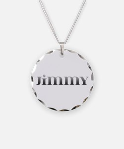 Jimmy Carved Metal Necklace