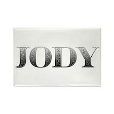 Jody Carved Metal Rectangle Magnet