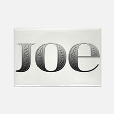 Joe Carved Metal Rectangle Magnet