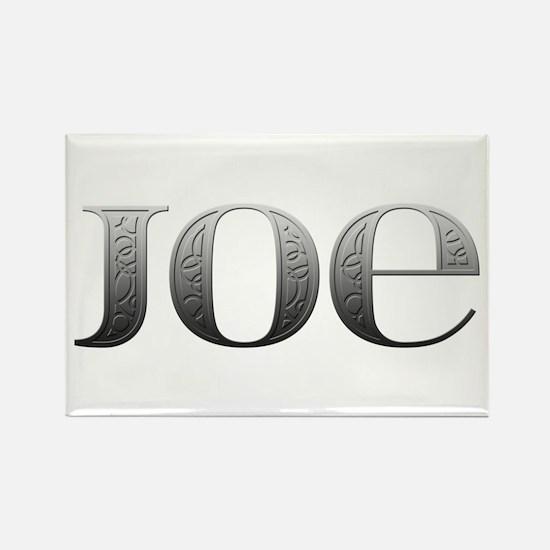 Joe Carved Metal Rectangle Magnet