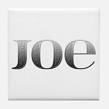 Joe Carved Metal Tile Coaster