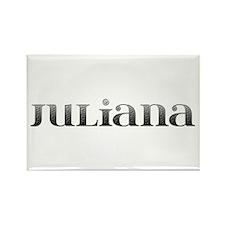 Juliana Carved Metal Rectangle Magnet