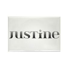 Justine Carved Metal Rectangle Magnet