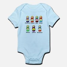 Russian Days of the Week Infant Bodysuit