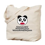 Engrish Panda Tote Bag