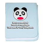 Engrish Panda baby blanket