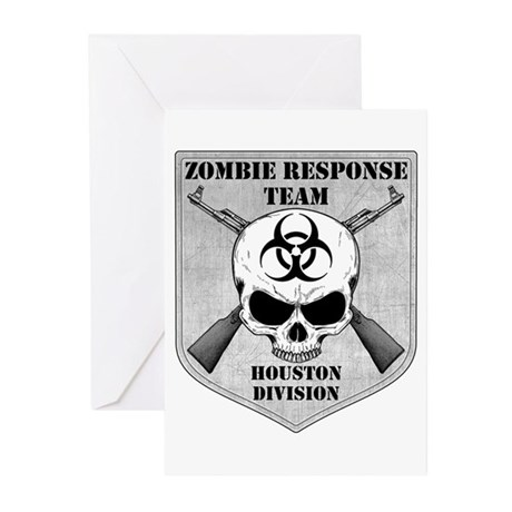 Zombie Response Team: Houston Division Greeting Ca