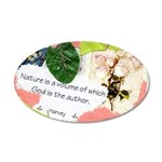 Nature Quote Collage 20x12 Oval Wall Decal