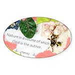 Nature Quote Collage Sticker (Oval 10 pk)