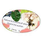 Nature Quote Collage Sticker (Oval)
