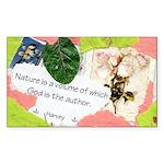 Nature Quote Collage Sticker (Rectangle)