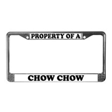 Property Of A Chow Chow License Plate Frame