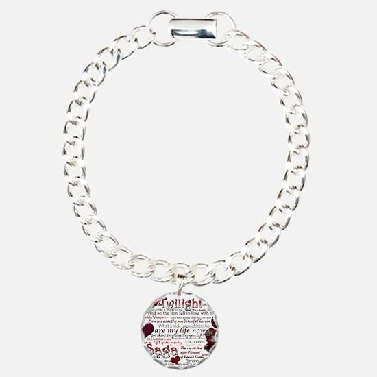 Twilight Quotes Charm Bracelet, One Charm