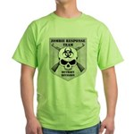Zombie Response Team: Detroit Division Green T-Shi