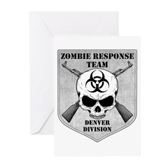 Zombie Response Team: Denver Division Greeting Car