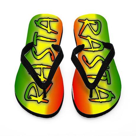 Rasta Flip Flops