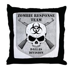 Zombie Response Team: Dallas Division Throw Pillow