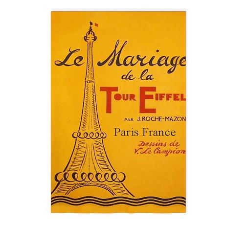 Vintage Eiffel Tower Postcards (Package of 8)