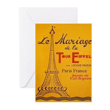 Vintage Eiffel Tower Greeting Cards (Pk of 10)