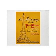 Vintage Eiffel Tower Throw Blanket