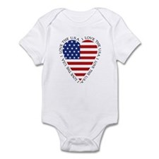 Flag Heart Onesie