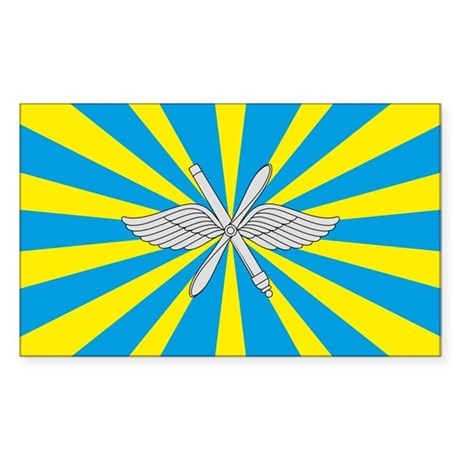 Russian Air Force Flag Sticker (Rectangle)