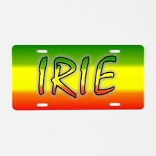 Irie Aluminum License Plate