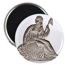 """Sitting Liberty 2.25"""" Magnet (100 pack)"""