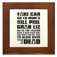 Shaun of the Dead Take Car ... Framed Tile