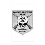 Zombie Response Team: Baltimore Division Sticker (