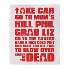 Shaun of the Dead Pint... Throw Blanket