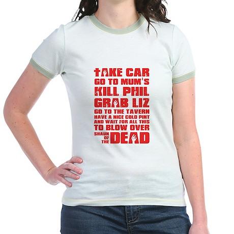 Shaun of the Dead Pint... Jr. Ringer T-Shirt