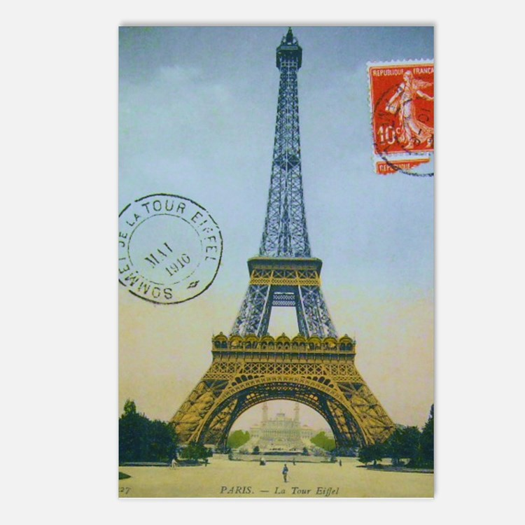 VINTAGE EIFFEL TOWER Postcards (Package of 8)