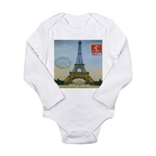 VINTAGE EIFFEL TOWER Long Sleeve Infant Bodysuit