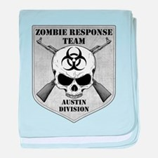 Zombie Response Team: Austin Division baby blanket