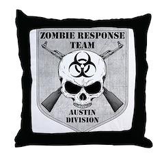 Zombie Response Team: Austin Division Throw Pillow
