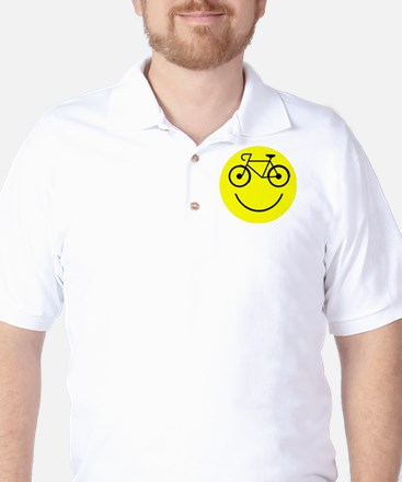 Smiley Cycle Golf Shirt