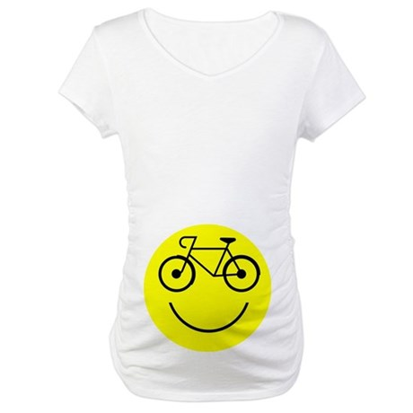 Smiley Cycle Maternity T-Shirt