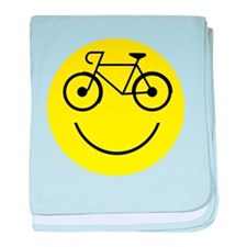 Smiley Cycle baby blanket